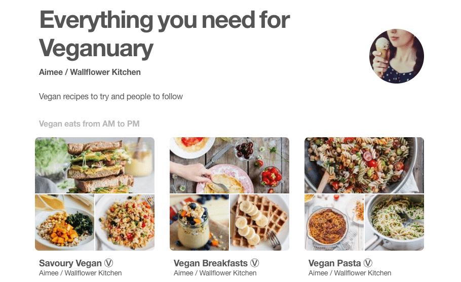 My Pinterest UK Veganuary Picks!