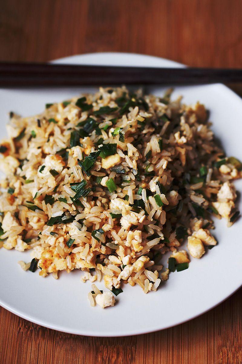 """Easy Vegan """"Egg"""" Fried Rice"""