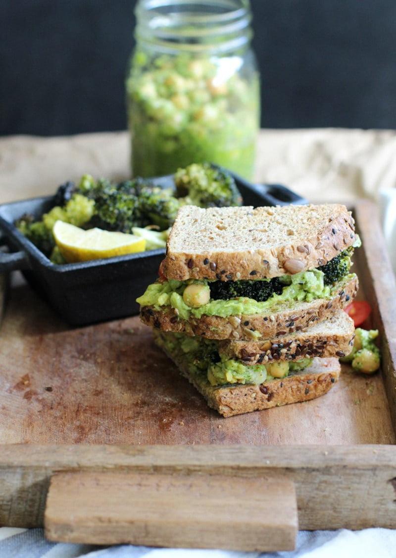 Pesto Chickpea Sandwich via apolloandluna.com