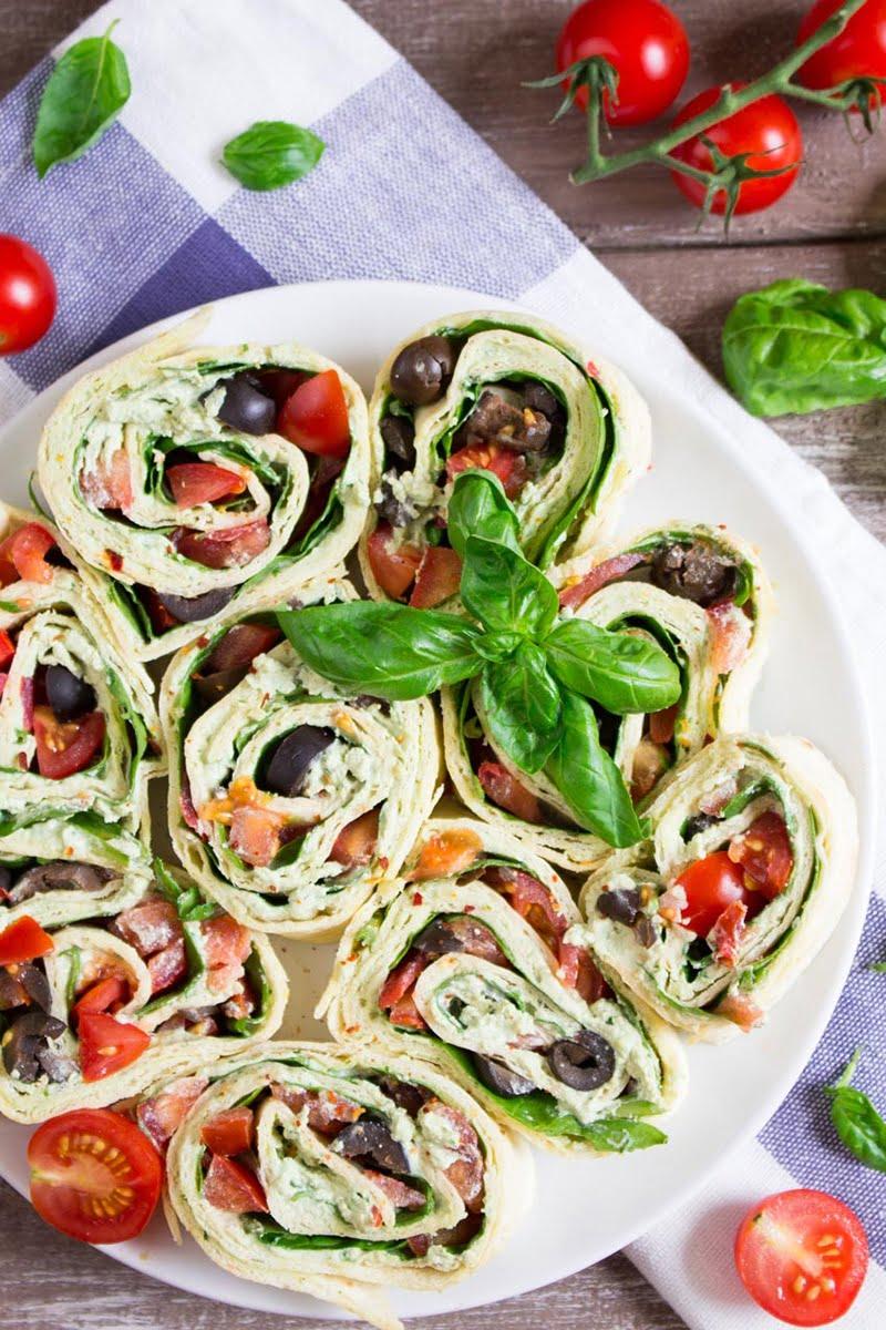 Vegan Basil Ricotta Pinwheels via veganheaven.org