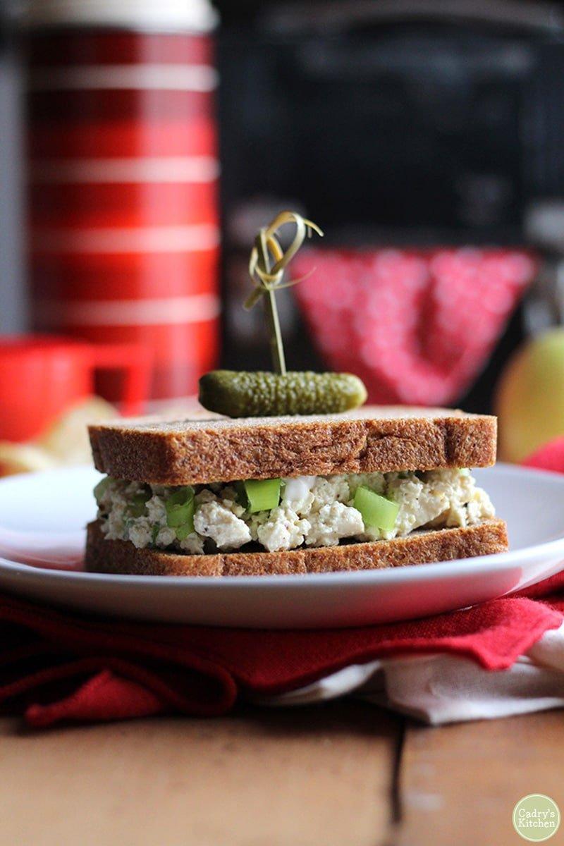 Vegan Egg Salad Sandwich via cadryskitchen.com