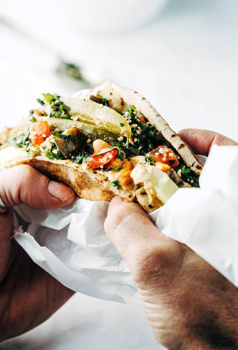 Vegan Sabich Sandwich via mygoodnesskitchen.com