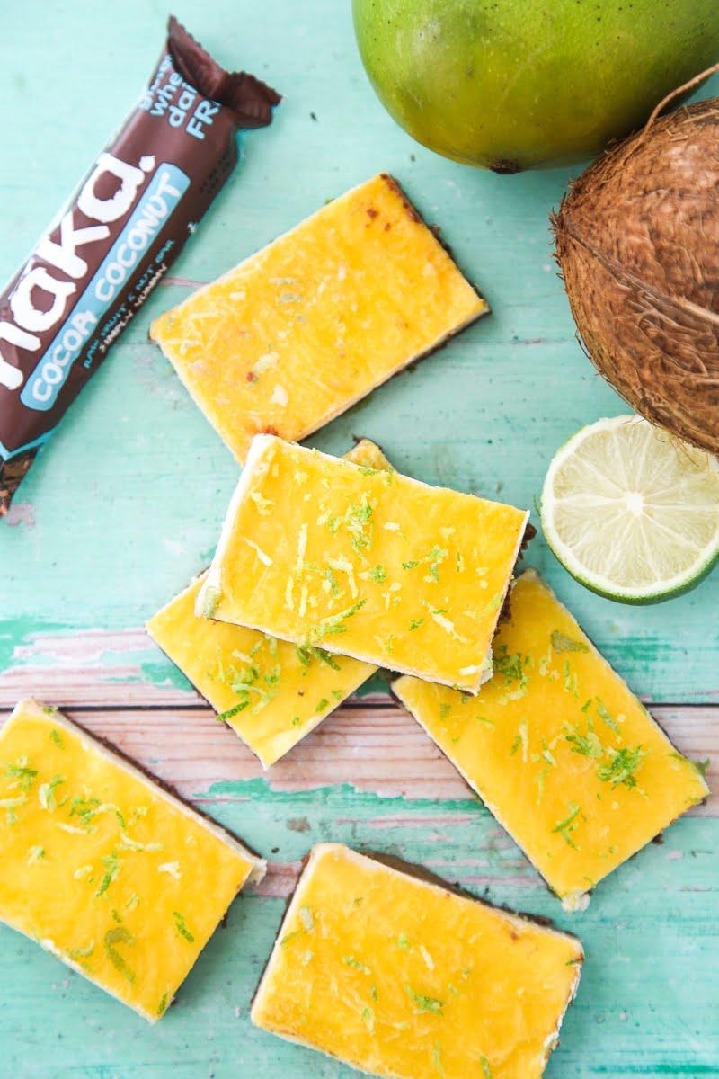 Nakd Mango Cheesecake Bars (Vegan + GF)