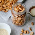 Easy Sesame Candied Peanuts (3 ingredients!)