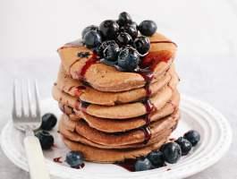Wholewheat Blueberry Pancakes #vegan #oilfree #healthyrecipes
