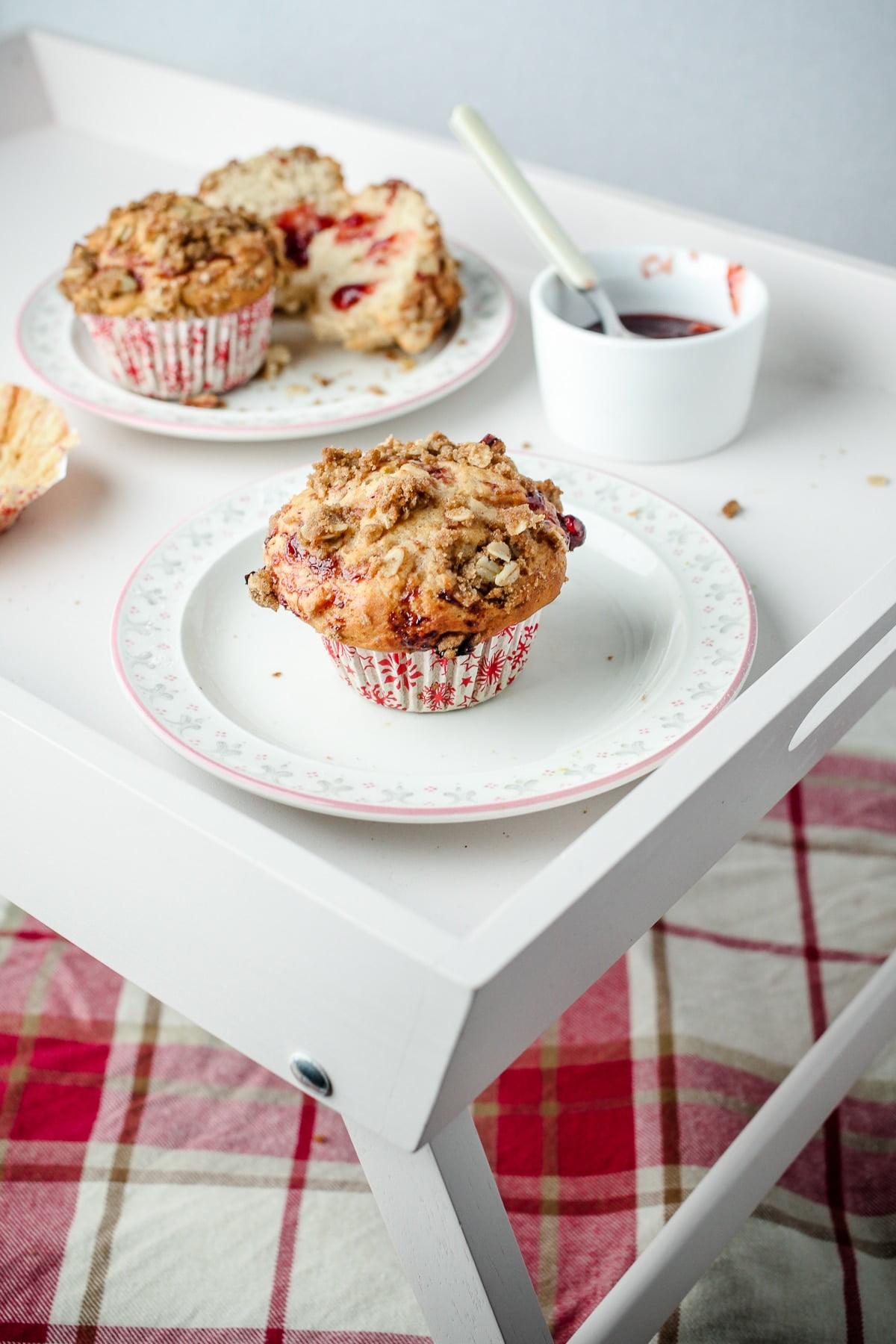 #Vegan Cranberry & Orange Streusel Muffins