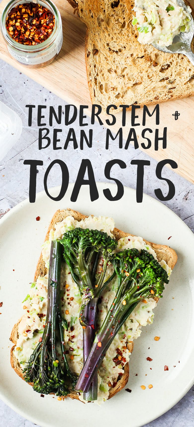 TENDERESTEM® TOASTS WITH BEAN & LEEK MASH