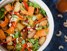 Crunchy Potato Salad with Mango Chutney Vinaigrette