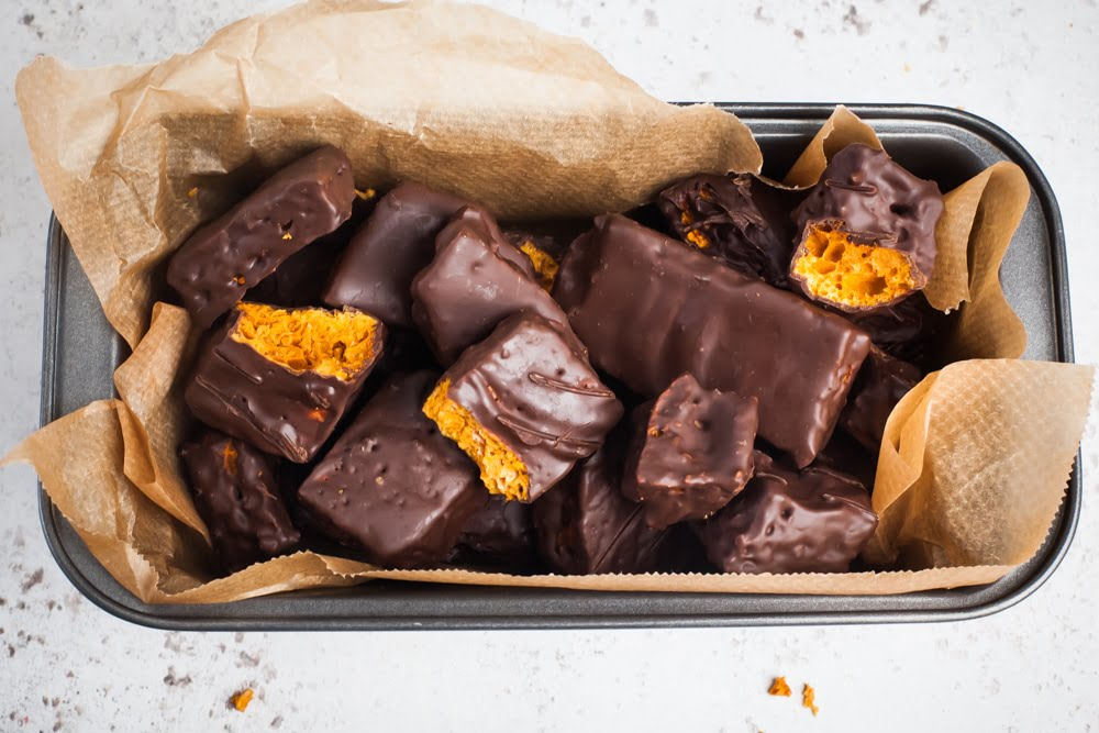 Vegan Crunchie Bars