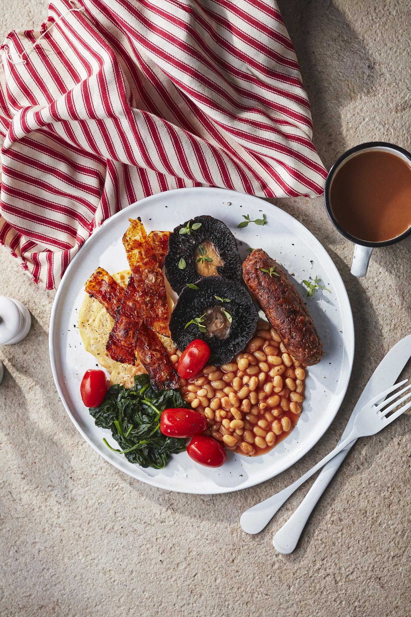 Plant-based Full English Breakfast - Great British Vegan Cookbook by Aimee Ryan