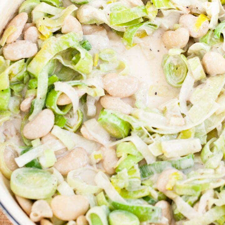 Creamy Leeks with Butter Beans (Vegan)