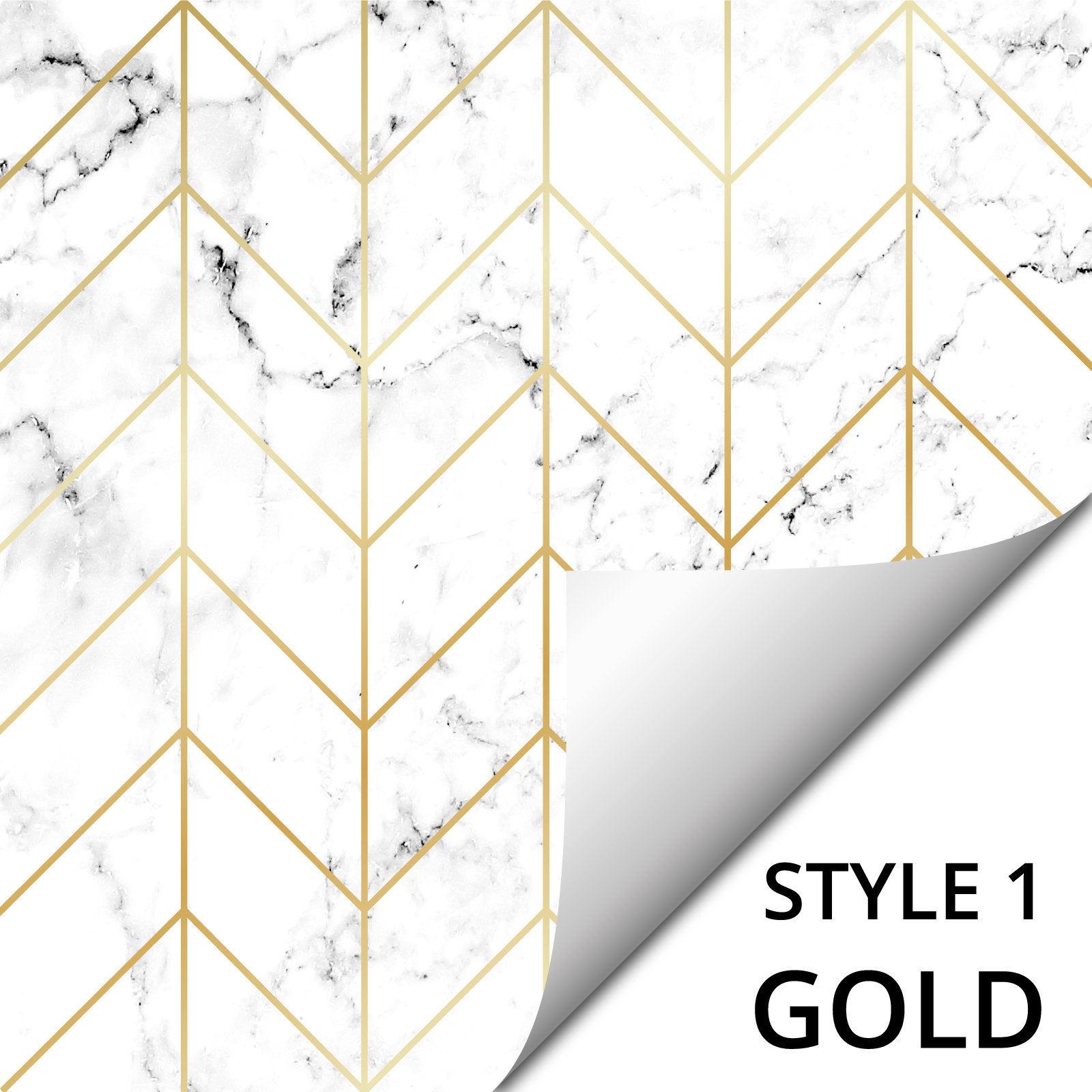 modern mosaic white marble with gold