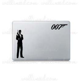 james bond 007 laptop sticker