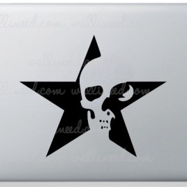 star skull laptop sticker