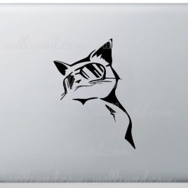 cool cat laptop sticker
