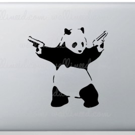 banksy panda laptop sticker