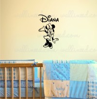 Personalized Custom Name Minnie Mouse Wall Decal