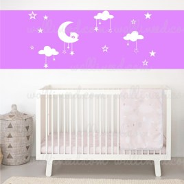 Moon Clouds wall decal
