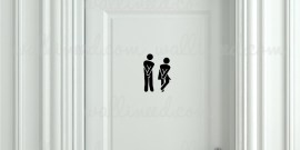 toilet sign sticker