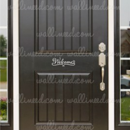 welcome door sticker