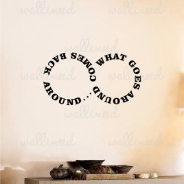 what goes around wall decal