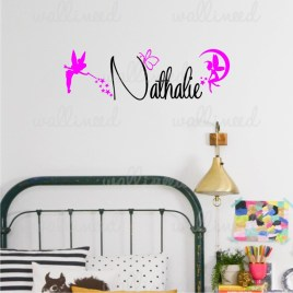 custom name princess wall decal