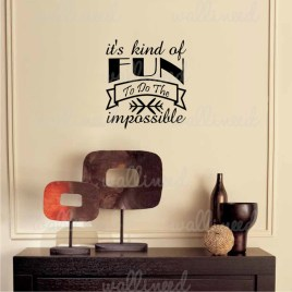 kind of fun wall decal