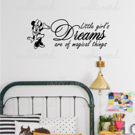 girl magical things wall decal