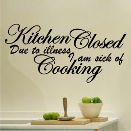 kitchen closed wall decal