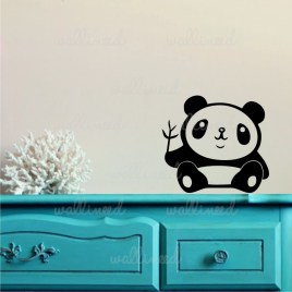 cute panda sticker wall decal