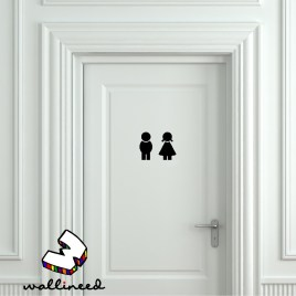 boy and girl toilet sign