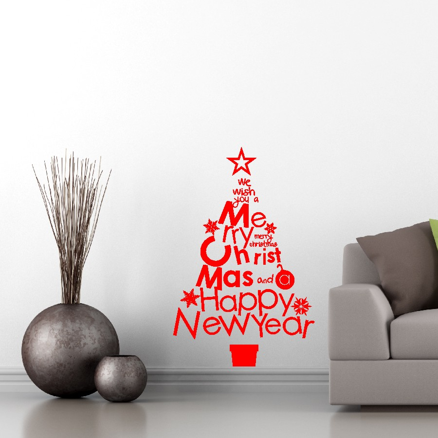 christmas tree wall decal