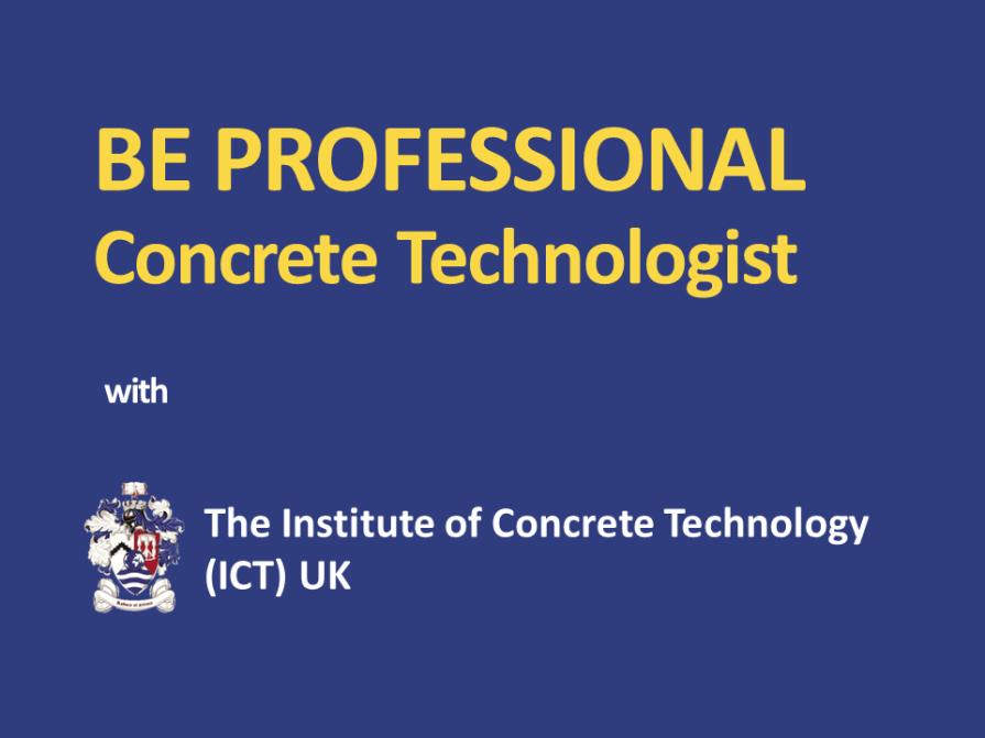 Be Professional Concrete Technologist