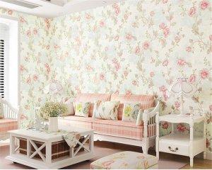 korean pattern floral living bedroom background wall