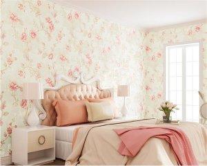 korean pattern floral background wall bedroom