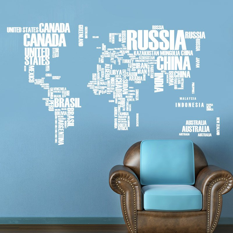 Walling shop shop stunning wallpapers wallstickers and art creative text version world map wall sticker publicscrutiny Images