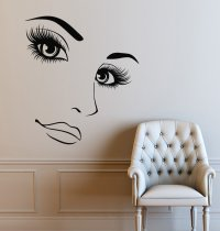 Mural Hairdressing & Beauty Shop Wall Decal | Walling Shop