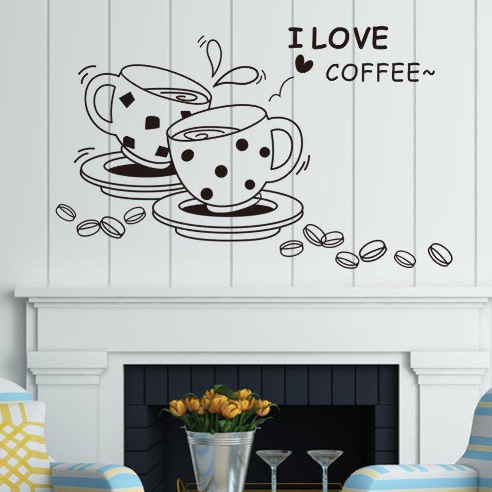 I Love Coffee Wall Sticker