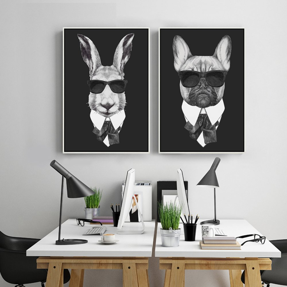 Cool Rabbit and Dog on Shades Canvas Wall Art & Walling Shop | Shop Stunning Wallpapers Wallstickers and Art .