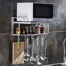 wall mount microwave oven rack bracket 2tier stand shelf storage cabinet kitchen racks holders patterer home garden
