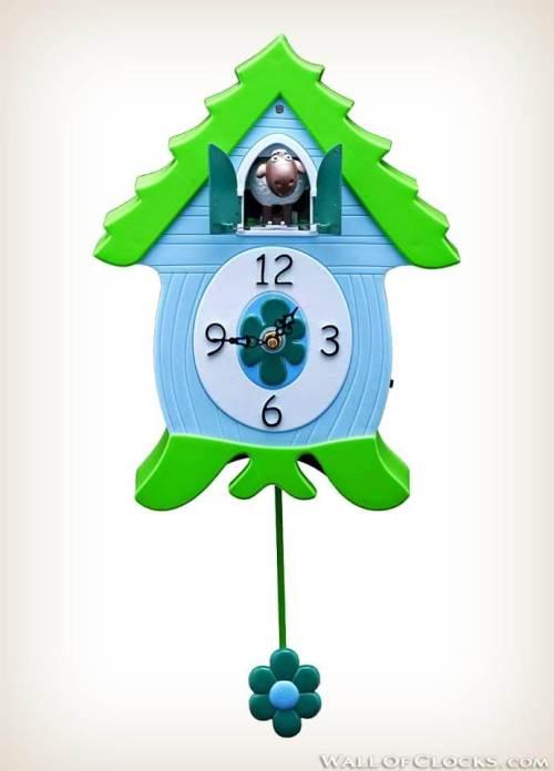 Ewenis Wooley EweCoo Sheep Coo Clock