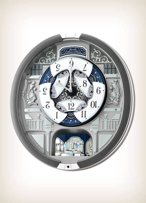 Seiko QXM366SRH Grey Style Musical Clock Playing