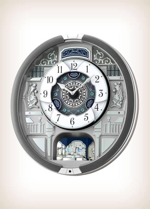 Seiko QXM366SRH Grey Style Musical Clock