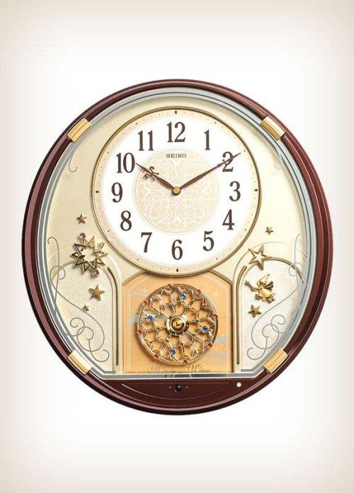 Seiko QXM470BRH Starry Night Melody in Motion Clock