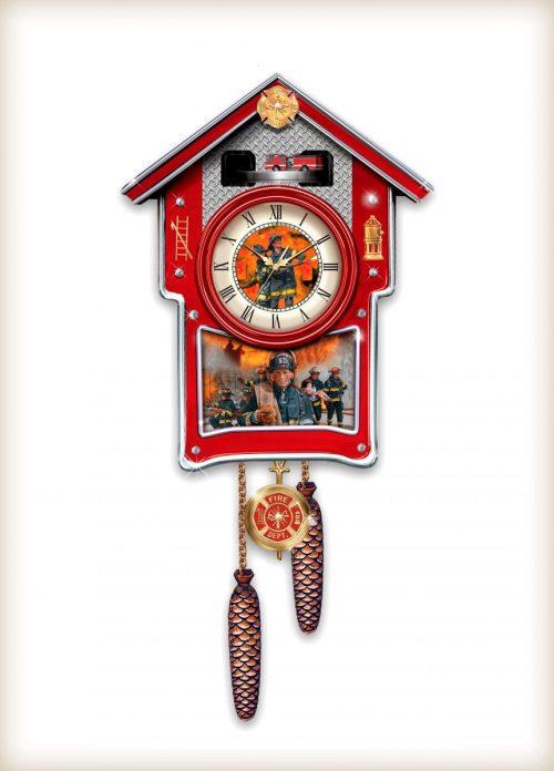 Firefighter Cuckoo Clock