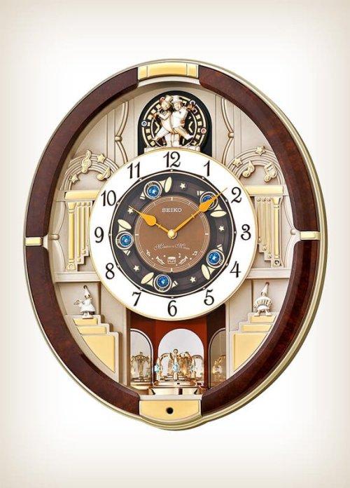 Seiko Qxm289Brh (QXM289B) Melodies in Motion Clock