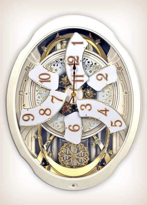 Marvelous Pearl Rhythm Clock 4MH427WU03