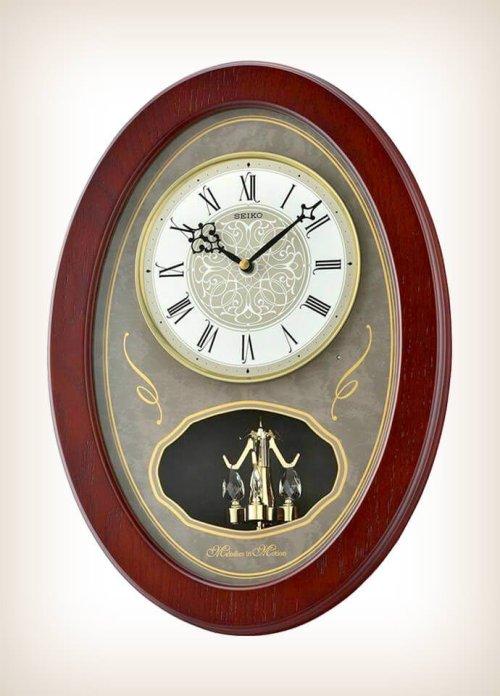 Seiko QXM373BLH Japanese Quartz Motion Clock