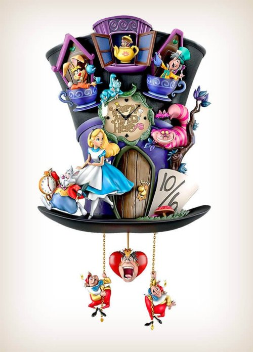 Mad Hatter Alice In Wonderland Cuckoo Clock