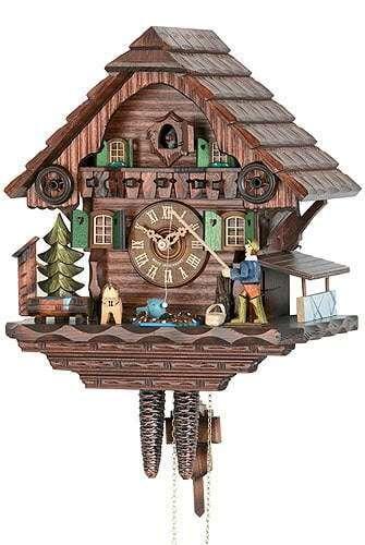 Hekas 031-16-73 with Fisherman Cuckoo Clock